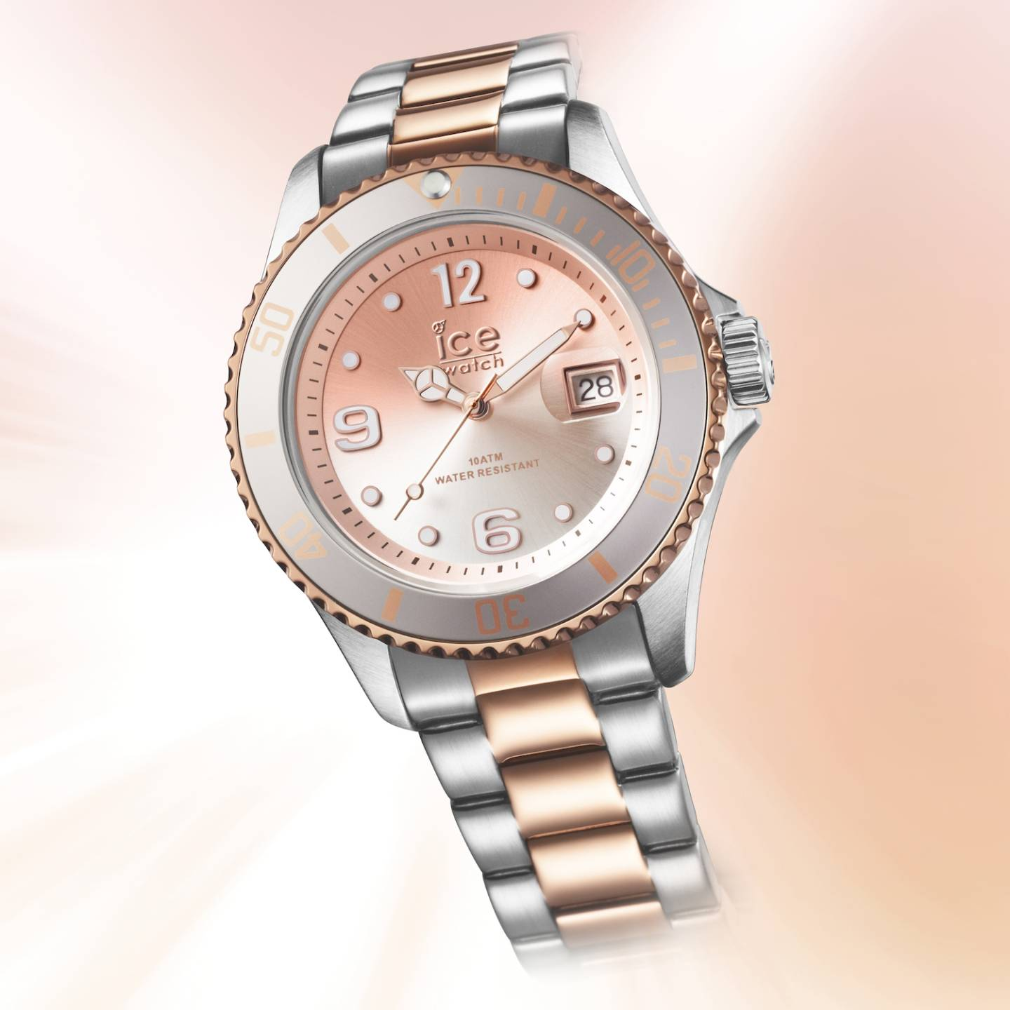 ICE steel sunset rose gold