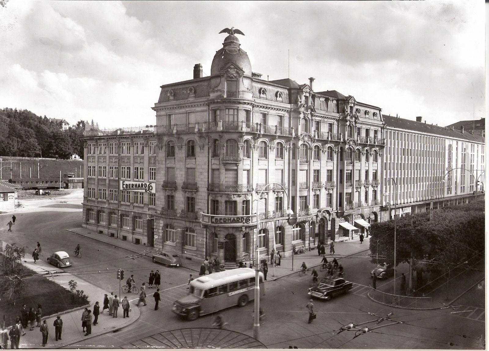 La Maison Eberhard de La Chaux-de-Fonds en 1940.